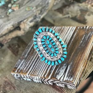 Jewelry - Cluster Turquoise & Sterling Silver Cuff Bracelet
